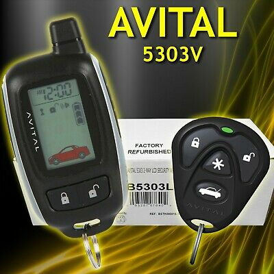 Avital 5303L 2-Way Car Auto Alarm Security System Remote Start Keyless Entry Lcd