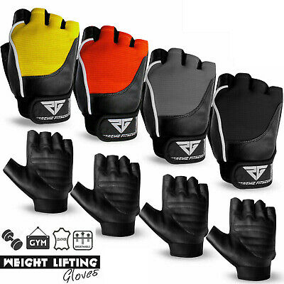 Weight Lifting Gloves Leather Gym Fitness Body Building Unisex Design Gloves