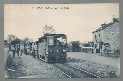 Carte postale Essonne.Wissous.La Gare.Train
