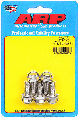 """ARP 622-0750 Stainless Steel Bolts - Hex Head - 5/16""""-18 - 0.750"""" UHL 5 Pack"""