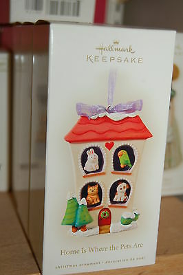 Hallmark 2008 Home is Where the Pets Are Ornament Cat Dog