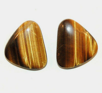 Tiger's Eye 16x19mm Cabochons Set of 2 From Africa (8931)