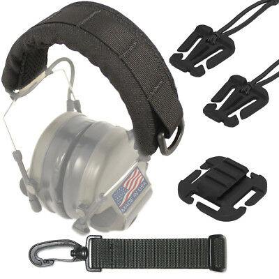 USTS Advanced Modular Headset Cover / Black + Accessory Bundle (Made In USA)