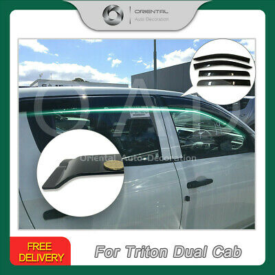 Premium Weathershield Weather Shields Window Door Visor Triton 15-18 4pcs (S)