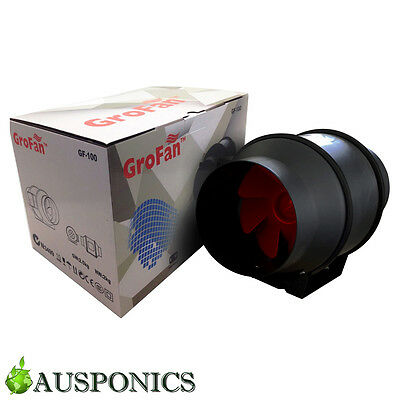 6 INCH GROFAN Mixed Inline Flow Fan With Speed Control Switch and Low Noise