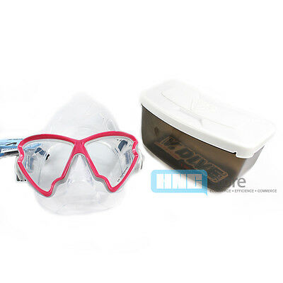 V.DIVE Type X Mask B33B 2 Lenses Scuba Diving Snorkeling Spearfishing  Pink New
