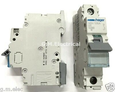 Hager 6 Amp Type B 6A Mcb Circuit Breaker Single Pole Phase Nbn106A Mtn106 10Ka