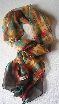 Vintage Burberry's scarf 100% silk Made in Italy Burberry