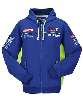 Genuine Suzuki MotoGP 2015 Ecstar Adult Hooded Team Sweat Shirt Long Sleeved