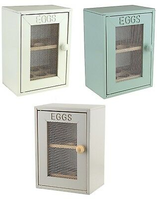 Rustic Finish Wooden 12 Egg Holder Cupboard Storage Tray Cabinet Kitchen
