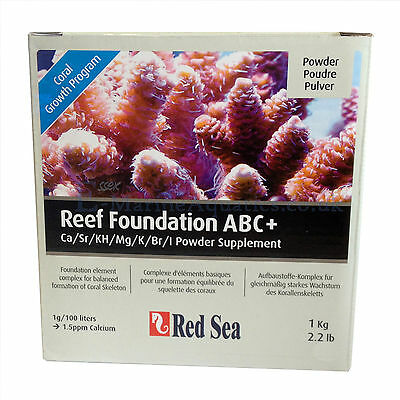 RED SEA REEF FOUNDATION COMPLETE ABC+ 1KG for MARINE AQUARIUM CORAL GROWTH