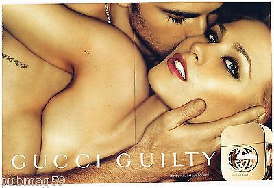 Publicité Advertising 2012 (2 pages) Parfum Gucci Guilty