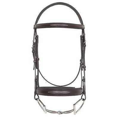 Camelot Fancy Stitched Wide Noseband Comfort Padded Bridle - Brown -HORSE #53677