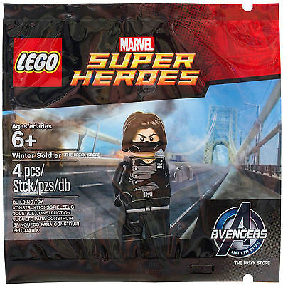 Lego Super Heroes - Winter Soldier Polybag Figure + Free Gift - Fast - Sealed