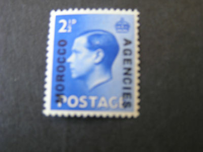GREAT BRITAIN, MOROCCO AGENCIES, SCOTT # 244a 1936 KEV111 OVPT ON GB MLH
