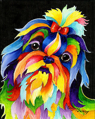 SHIH TZU 8X10 DOG  print by Artist Sherry Shipley