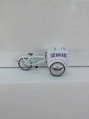 Arttista Old Fashion Ice Cream Cart on a Bike #1426 - O Scale On30 Figures - New