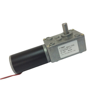 Miniature 24V 80rpm dc Worm Geared Motor Reversible Right Angle Motor