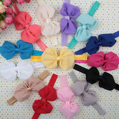 10pcs Cute Kids Girls Baby Toddler Flower Bow Headband Hair Band Headwear