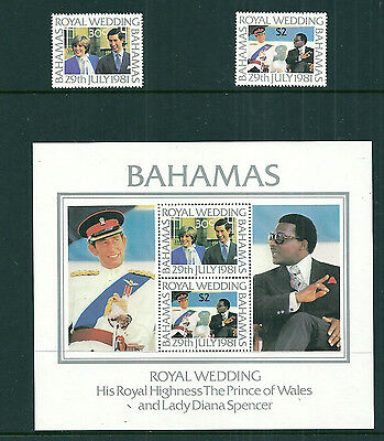 Bahamas 1981 Royal Wedding set & mini sheet unmounted mint