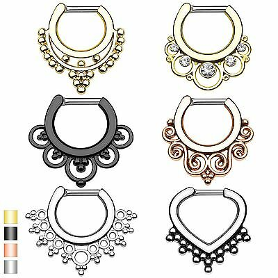 Nasenpiercing Nasenring Septum Clicker Ring Schild Cartilage Helix Ohr Piercing