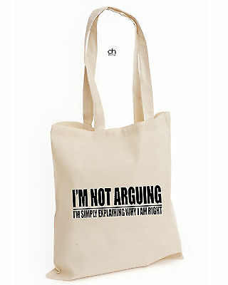Im Not Arguing Im Right Tumblr Fashion Cotton Tote Funny Present Gift(Argue,bag)
