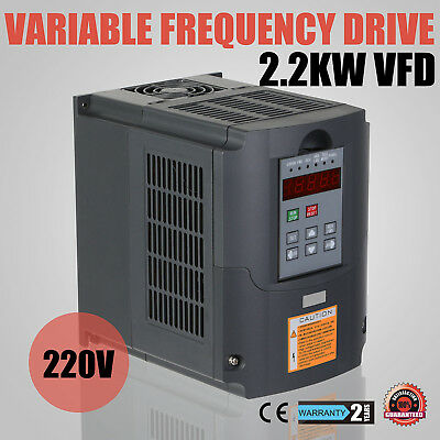 CE 2.2KW 3HP VFD 10A 220V Variable Frequency Drive Inverter Motor Speed Control