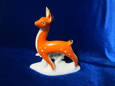VINTAGE Porcelain Figurine Soviet big deer made on Gorodnitskyy russian antique