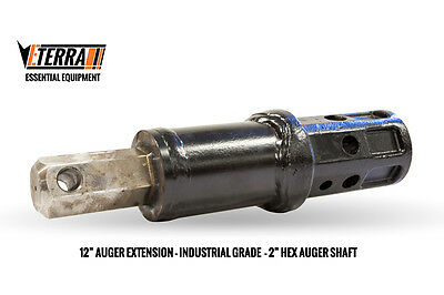 One Foot Auger Extension - Eterra Auger Extension - For Heavy Equipment!