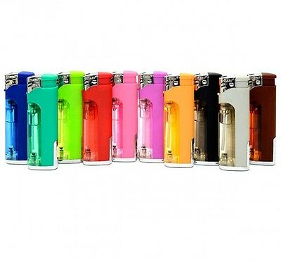 10 Electronic Refillable Lighter W/white Led Flashlight Not Disposable Wholesale