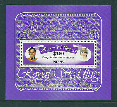 Nevis 1981 Royal Wedding (Charles & Diana) mini sheet unmounted mint