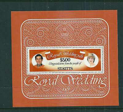 St Kitts 1981 Royal Wedding (Charles & Diana) mini sheet unmounted mint