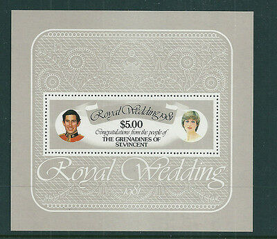 Grenadines of St Vincent 1981 Royal Wedding (Charles & Diana) m/s unmounted mint
