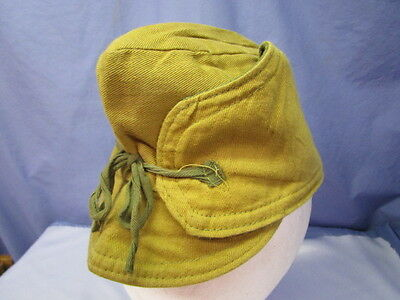 WWI U.S. Cold Weather Billed Mountain Style Field Cap ~ RARE!!!