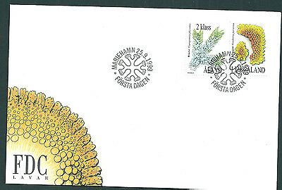 Aland 1999 Lichens set on unaddressed post office first day cover