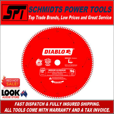 "FREUD DIABLO 96T 12"" 305mm ULTRA FINISH LAMINATE & ALUMINIUM MITER SAW BLADE TCG"