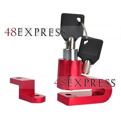 Red 6mm Aluminum Alloy Disc Brake Lock Security Motorcycle Bike with 2 Keys AU