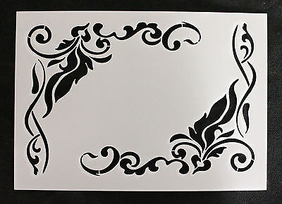 Reusable Stencil Vintage Corner Flourishes, Furniture Fabric French Shabby Chic