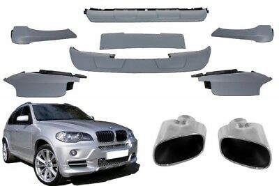 FOR BMW X5 E70 07-11 Aerodynamic Package M-Performance Bumper  Spoiler+Exhaust T