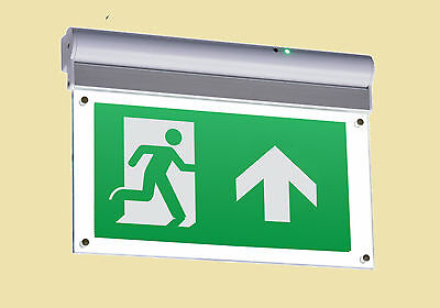 Wall Or Ceiling Mounted Led Emergency Exit Sign- 4W Led- 3 Year Warranty