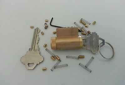 Locksmith Practice Schlage Lock With Removable Pins, New! Pick All Brass Locks