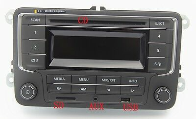 Radio 2DIN RCD with CD, USB, AUX, SD for VW Golf 5, 6, Jetta, Caddy, Passat