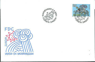 Aland 2001 Europa - Water Resources on unaddressed post office first day cover