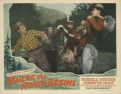 Where the North Begins 1947 Original Movie Poster Action Adventure Short