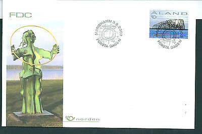 Aland 2002 Modern Art on unaddressed post office first day cover