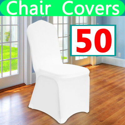 50 white Lycra Spandex Chair Covers Wedding Party cover Event Banquet favor