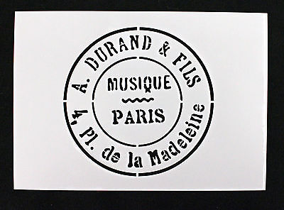 Reusable Stencil Vintage PARIS Stamp, ideal for Furniture Fabric Shabby Chic