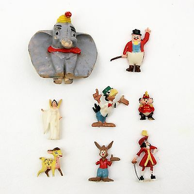Vtg Lot of 8 Marx Disneykins Dumbo Bambi Peter Pan Pinocchio Song of the South