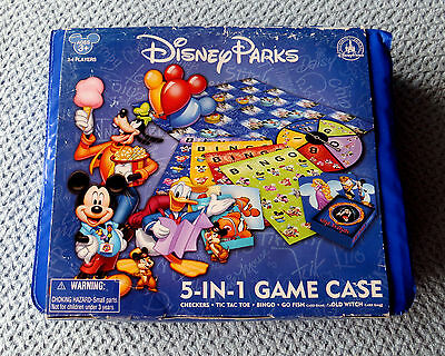 VINTAGE DISNEY PARKS 5 IN 1 GAME CASE NEW IN BOX NEVER OPENED