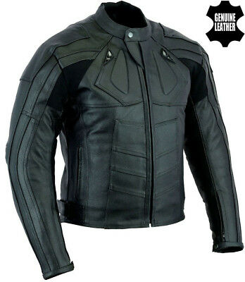 Deadpool Style Mens Black Ce Armour Motorbike Motorcycle Premium Leather Jacket
